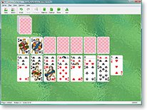 Topsy-turvy queens solitaire screenshot