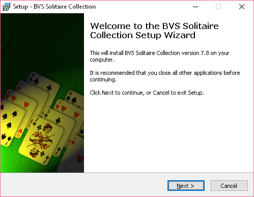 BVS SOlitaire Collection setup